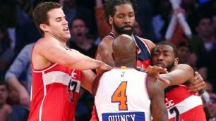 Knicks vs Wizard: partita finisce  in rissa, Quincy Acy espulso