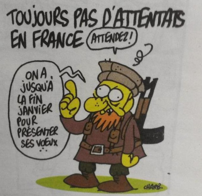 Last strip from Stephane Charbonnier, director of Charlie Hebdo.