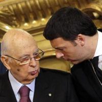 Napolitano riceve Renzi e Boschi al Quirinale