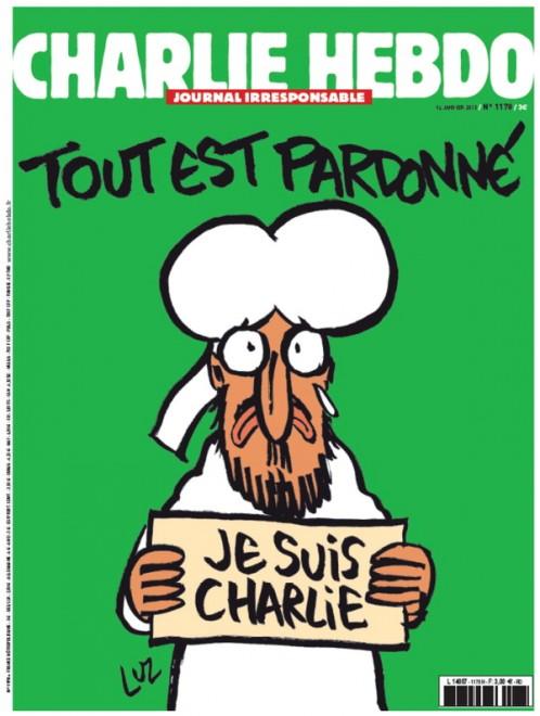"Maometto in prima su Charlie Hebdo: ""Je suis Charlie"""
