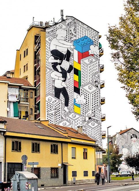 I muri di Millo. La street art è in bianco e nero