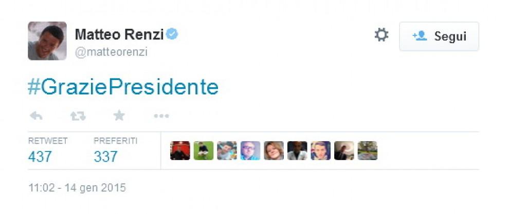 Napolitano lascia: i tweet dei politici