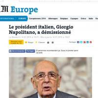 Napolitano lascia: la notizia sui siti internazionali
