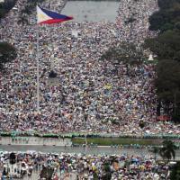 Manila, la folla per Francesco vista dall'alto