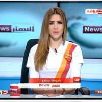 Egitto, conduttrice tv nel pallone: le news con la maglia della Roma