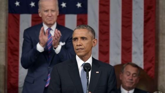 """Obama, sesto Discorso sullo stato dell'Unione: """"Voltiamo pagina, liberi di scegliere il nostro futuro"""""""