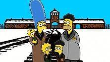 I Simpson ad   Auschwitz il fumetto d'artista