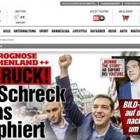 """Elezioni Grecia, il sito di Bild: """"Vince Tsipras, l'euro-spavento"""""""