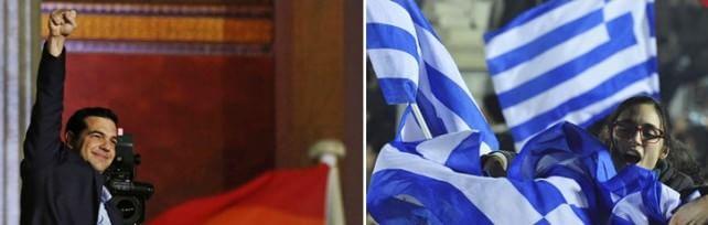 """Grecia,  trionfa Syriza : a 2 seggi da maggioranza    Tsipras : """"Troika è finita """"   foto   -   video   -   liveblog"""