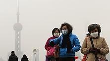 Inquinamento a Shanghai 15 volte oltre limite Oms