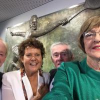 Australia, da Margaret Court a Rod Laver: in un selfie la storia del tennis