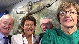 In un selfie la storia del tennis In quattro hanno vinto 58 Slam