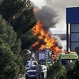 F-16 greco si schianta in base Nato 10 morti in Spagna   le prime foto   nove italiani tra i 13 feriti   video