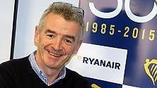 Ryanair, prima compagnia italiana con 23,2 mln di passeggeri