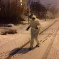 """Tempesta di neve negli Usa, a Boston spunta lo """"Yeti"""""""