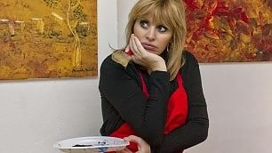 Alessandra Mussolini pittrice in mostra i suoi ''graffi''