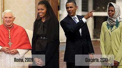 Foto  Velo o non velo, le scelte di Michelle Dal Papa andò con il capo coperto
