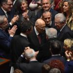 Quirinale, l'arrivo di Giorgio Napolitano: gli applausi e il voto