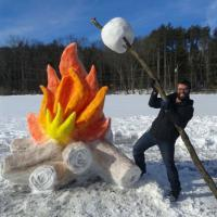 Quando la neve è un'opera d'arte: le sculture di ghiaccio più curiose sul web