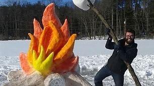 Neve, ghiaccio e fantasia Le sculture sorprendono