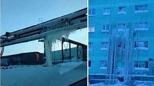 Benvenuti a Dudinka: -40°C  la città sotto zero è un ghiacciolo