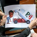 Quirinale, in aula la vignetta della Lega su Renzi