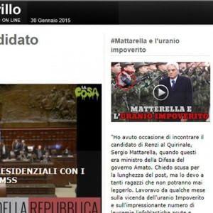 """Colle, Grillo attacca Mattarella: """"Negò su uranio impoverito"""". Riunione M5s senza streaming"""
