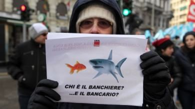 Bancari in sciopero per il contratto   foto