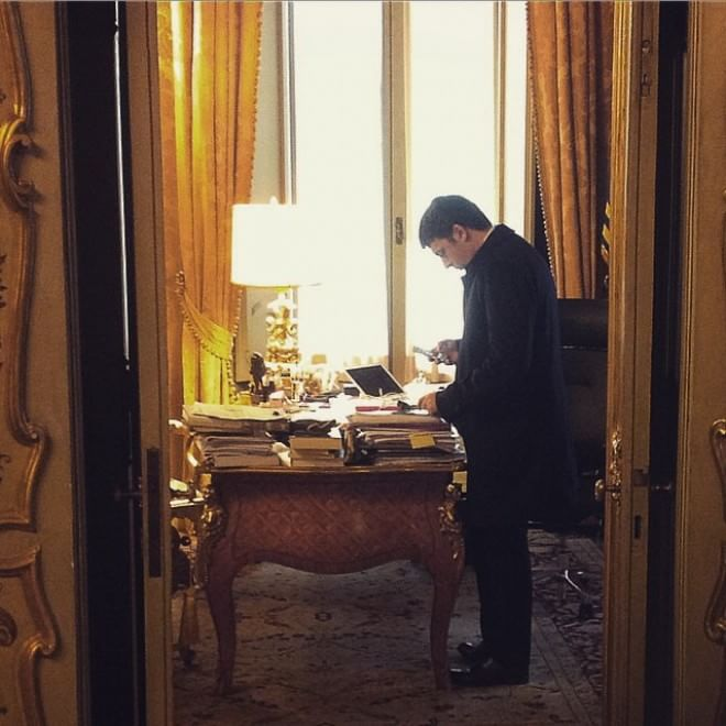 Renzi l 39 attesa e la gioia per mattarella presidente il for Ufficio di presidenza camera