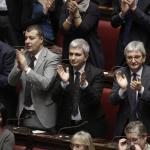 Sergio Mattarella Presidente: gli applausi dell'Aula