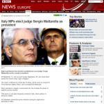 Mattarella Presidente: la notizia sui siti stranieri