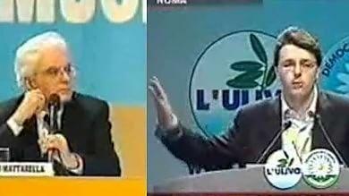 """E al congresso  del partito Mattarella fermò Renzi: """"Hai sforato il tempo""""  Video"""