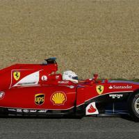 La nuova Ferrari in pista a Jerez con Vettel