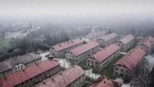 Auschwitz e Birkenau mai viste Le riprese dal drone della Bbc
