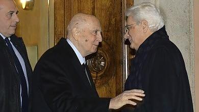 """Il presidente va a casa di Napolitano -   vd   A Ciampi dice: """"Capisci mie preoccupazioni"""""""