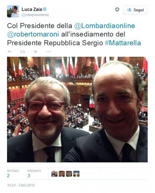 Mattarella giura, tweet e foto dei politici dall'aula