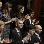 Quirinale, la famiglia Mattarella assiste in aula al giuramento