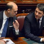 Giuramento Mattarella: Alfano siede accanto al premier Renzi