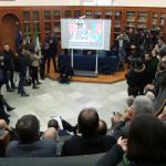 Palermo, maxischermo all'università per il giuramento di Mattarella