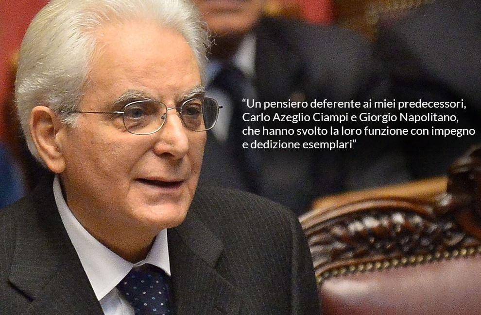 Il discorso di Mattarella al parlamento: le frasi