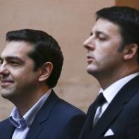 Roma: Renzi riceve Tsipras a Palazzo Chigi