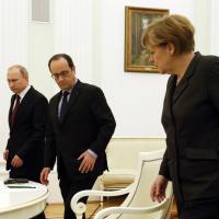 Ucraina, Merkel e Hollande a Mosca incontrano Putin