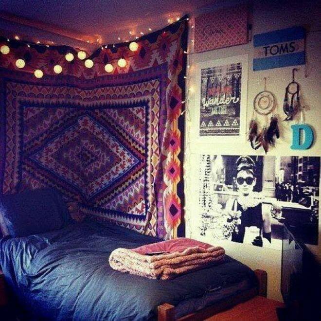 Hipster o boh mien arredare con stile la camera da letto - Camera da letto stile harry potter ...