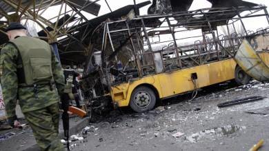 Ucraina, ancora bombe a Donetsk   in attesa del vertice di Minsk