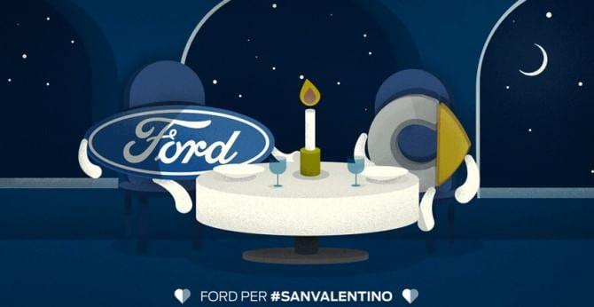 Ford per #SanValentino: gli auguri su Twitter