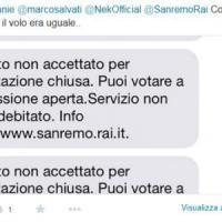"""Sanremo, la polemica dei fan di Nek su Twitter: """"Nel Televoto, voti non accettati a..."""