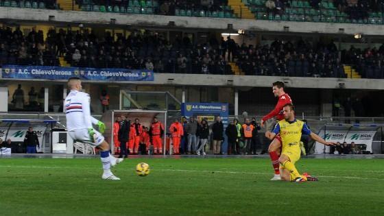 Chievo-Sampdoria 2-1, punti d'oro per Maran. Eto'o si vede poco