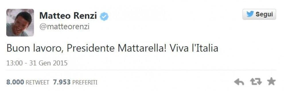Renzi, 365 giorni da premier su Twitter: la top 20 dei cinguettii