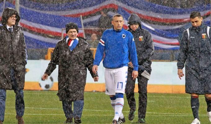 A Genova vince la pioggia, derby rinviato   foto