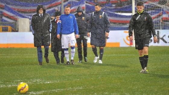 Sampdoria-Genoa rinviata per pioggia, ipotesi marzo per il recupero